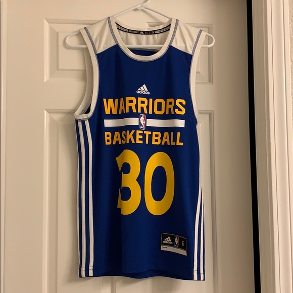 new style cc0f4 cd8e6 ADIDAS WARRIORS basketball training jersey #30, S